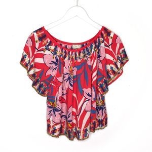 Flying Tomato Off The Shoulder Top Blouse Floral